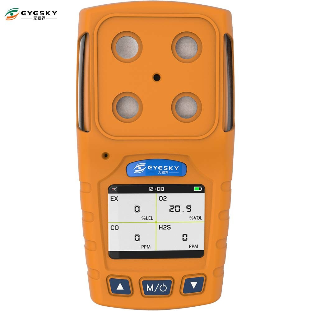 Portable H2s Single Gas Detector TFT Display By Combustible Gas Alarm Control System