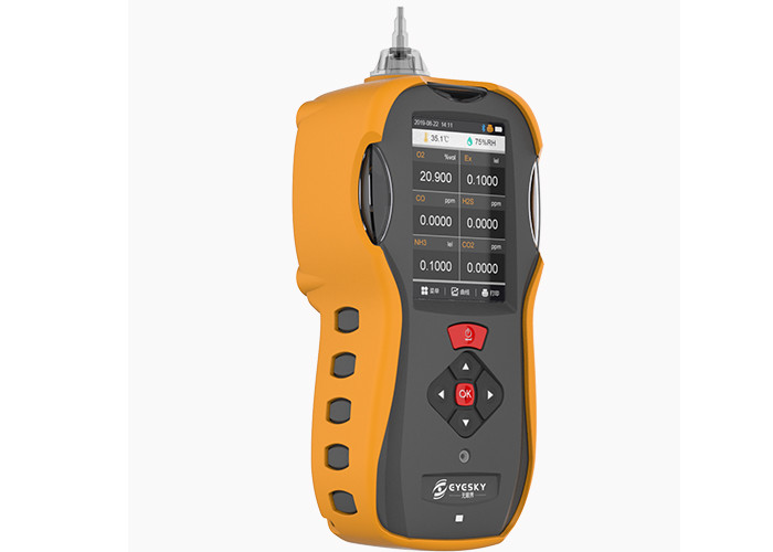 Compact 6 In 1Portable Multi Gas Detector With Bluetooth Printer